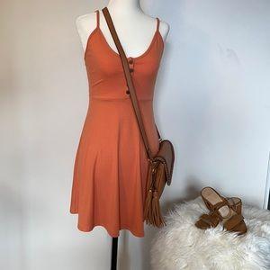 floral strap mini dress